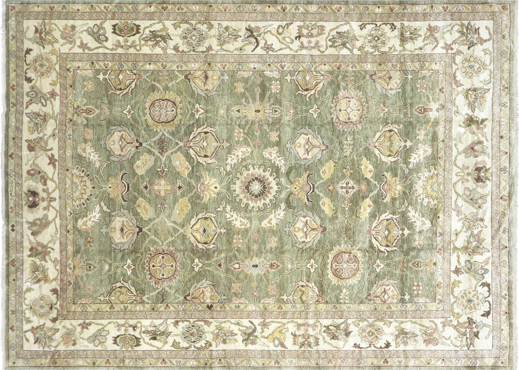 "Recently Woven Turkish Oushak Carpet - 9'2"" x 12'6"""