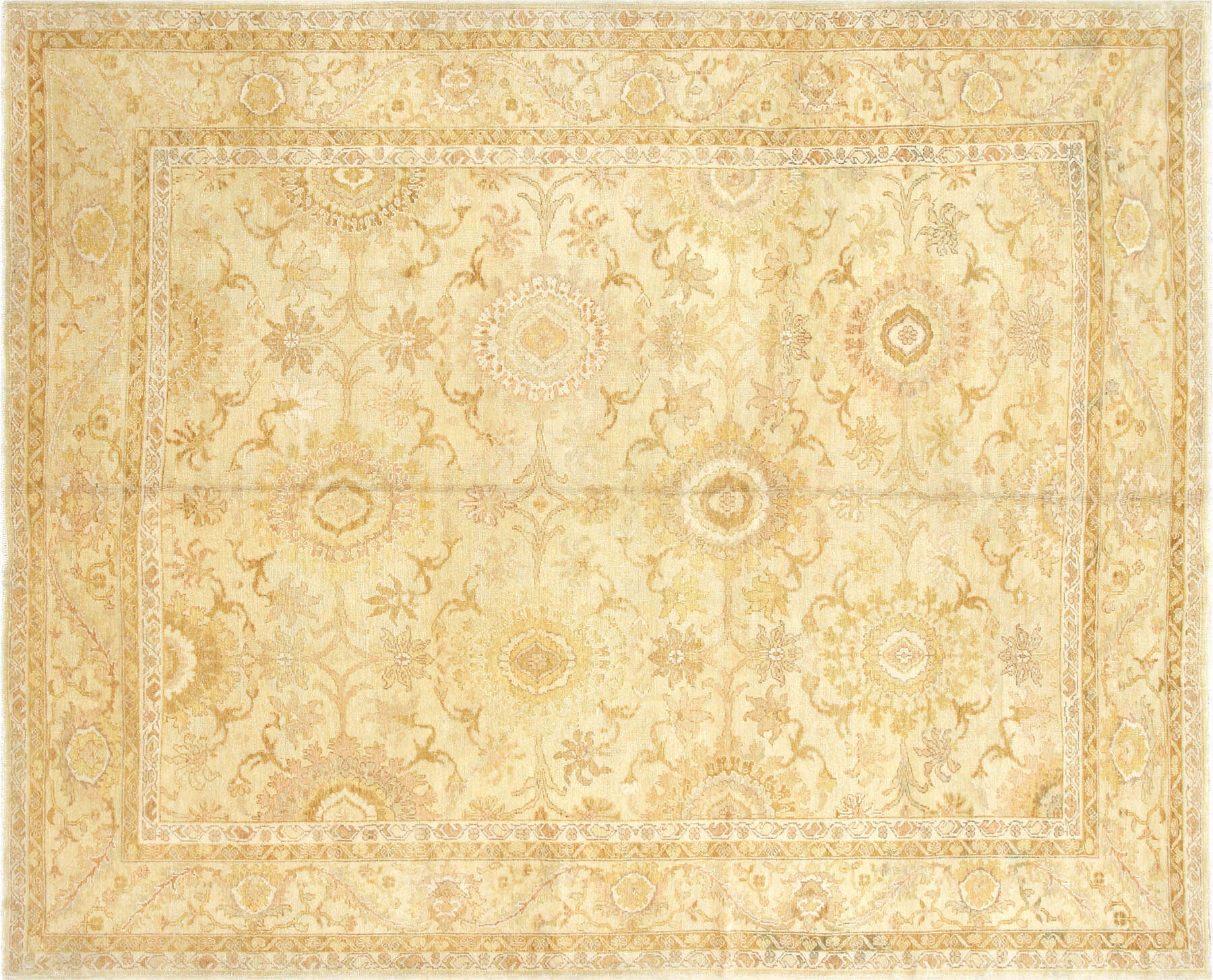 "Recently Woven Turkish Oushak Carpet - 8'4"" x 10'4"""