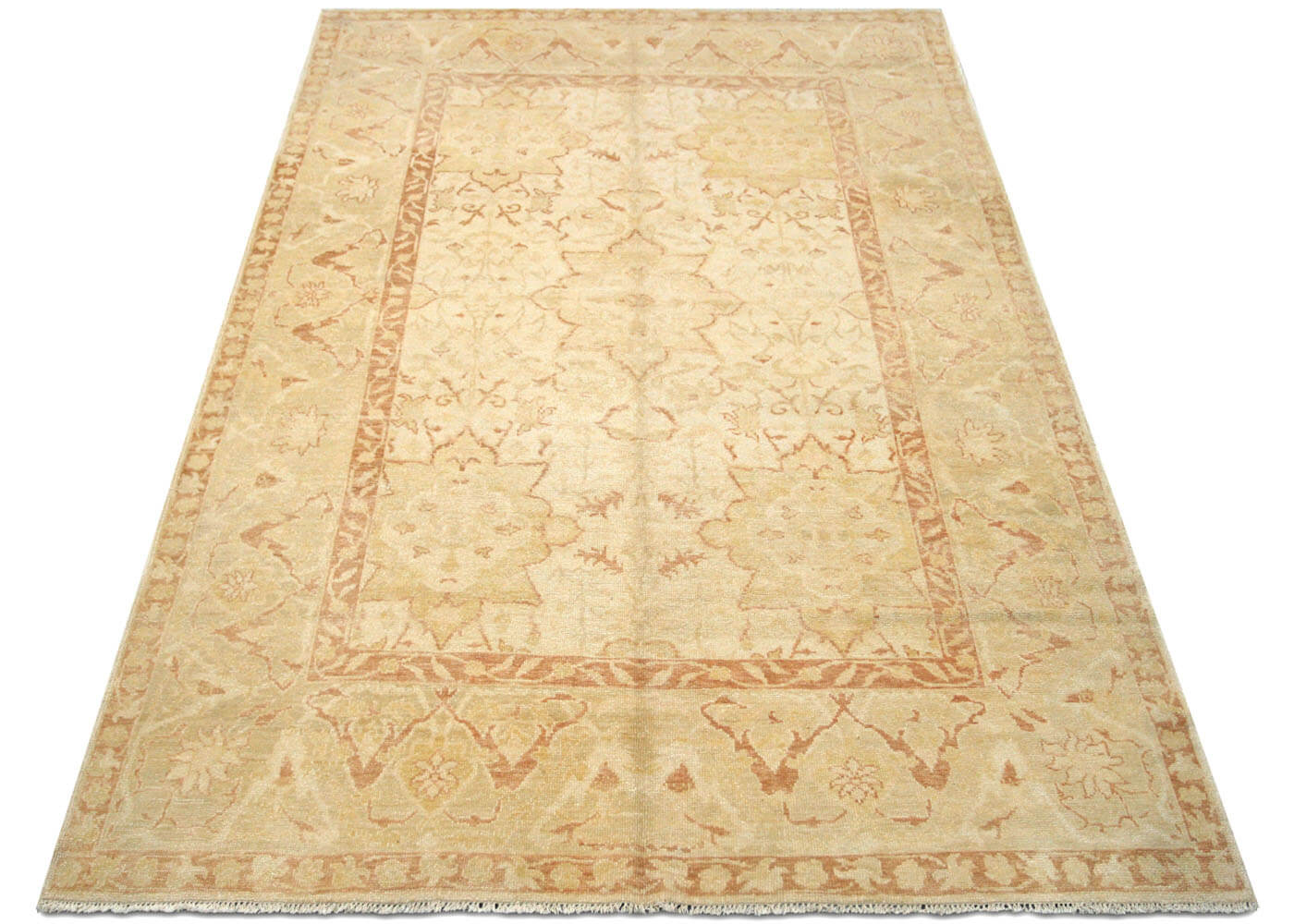 "Recently Woven Turkish Oushak Rug - 5'9"" x 8'7"""