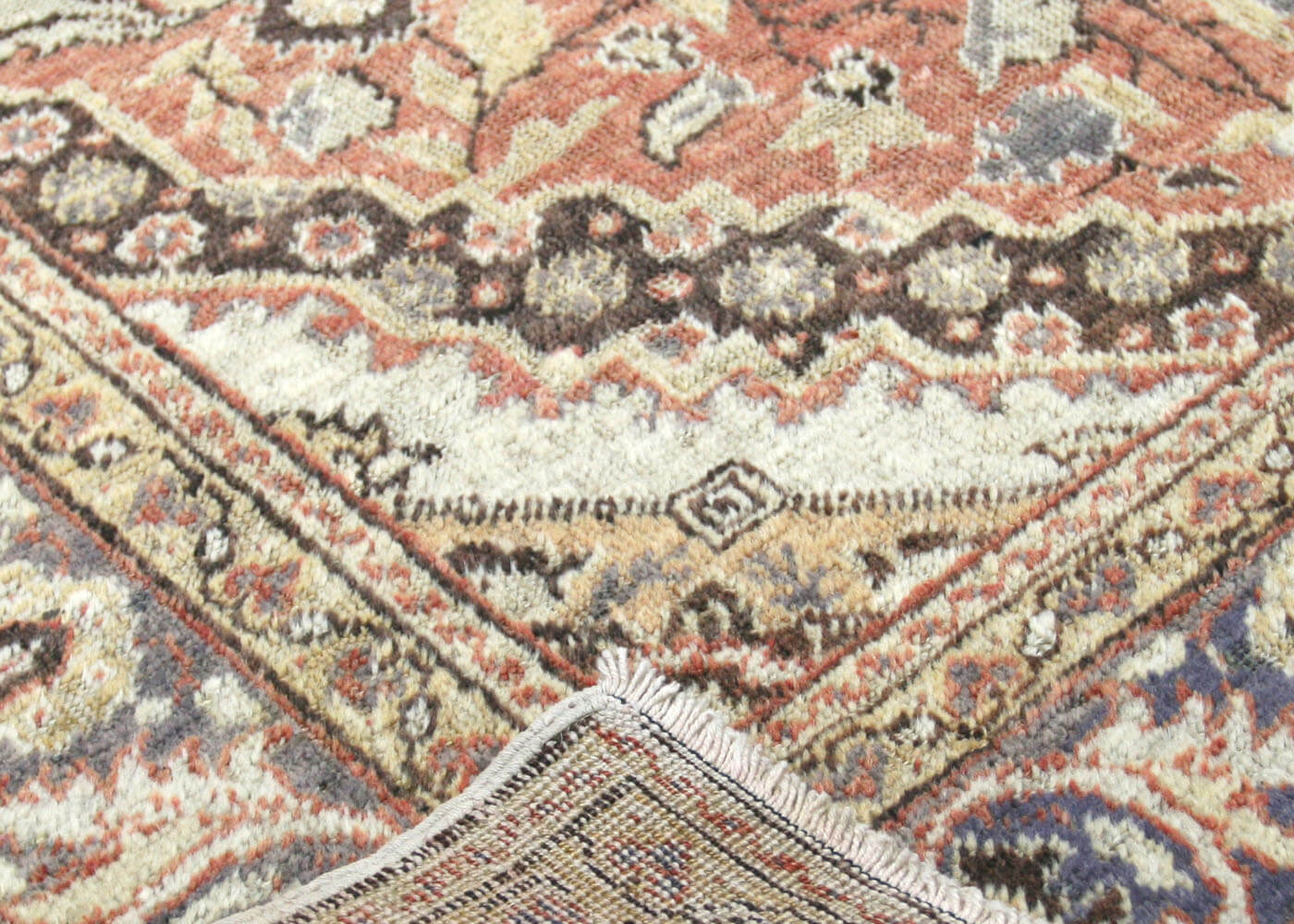 "Vintage Turkish Oushak Rug - 4'3"" x 5'11"""