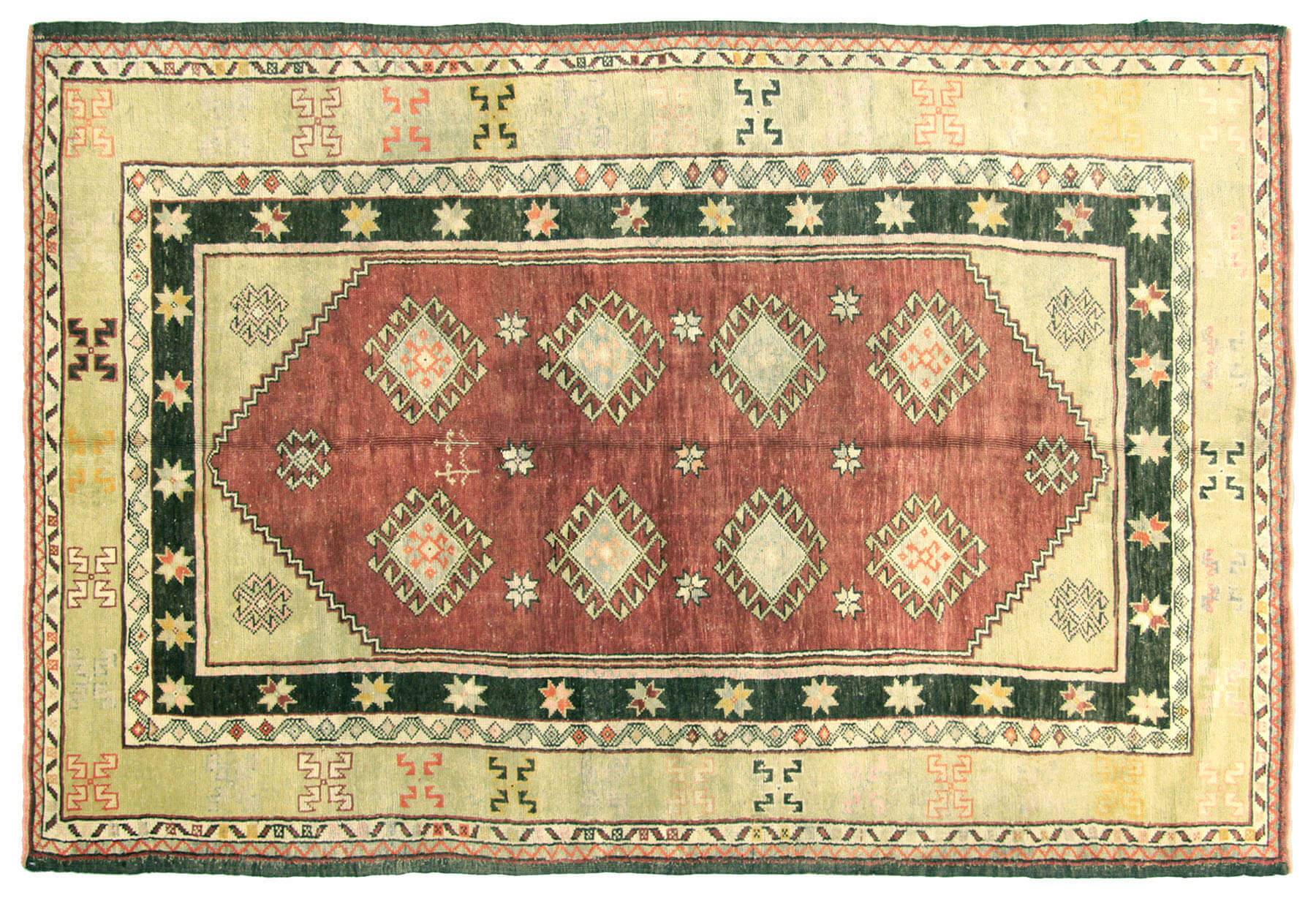 "Vintage Turkish Oushak Rug - 5'9"" x 8'8"""