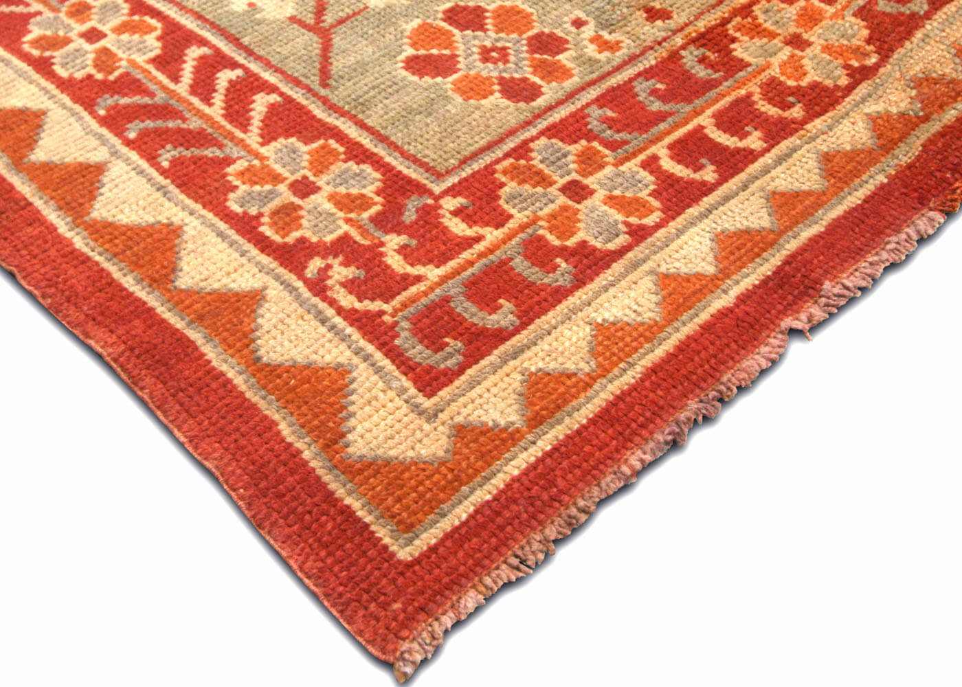 "Antique Turkish Oushak Carpet - 17'0"" x 19'4"""