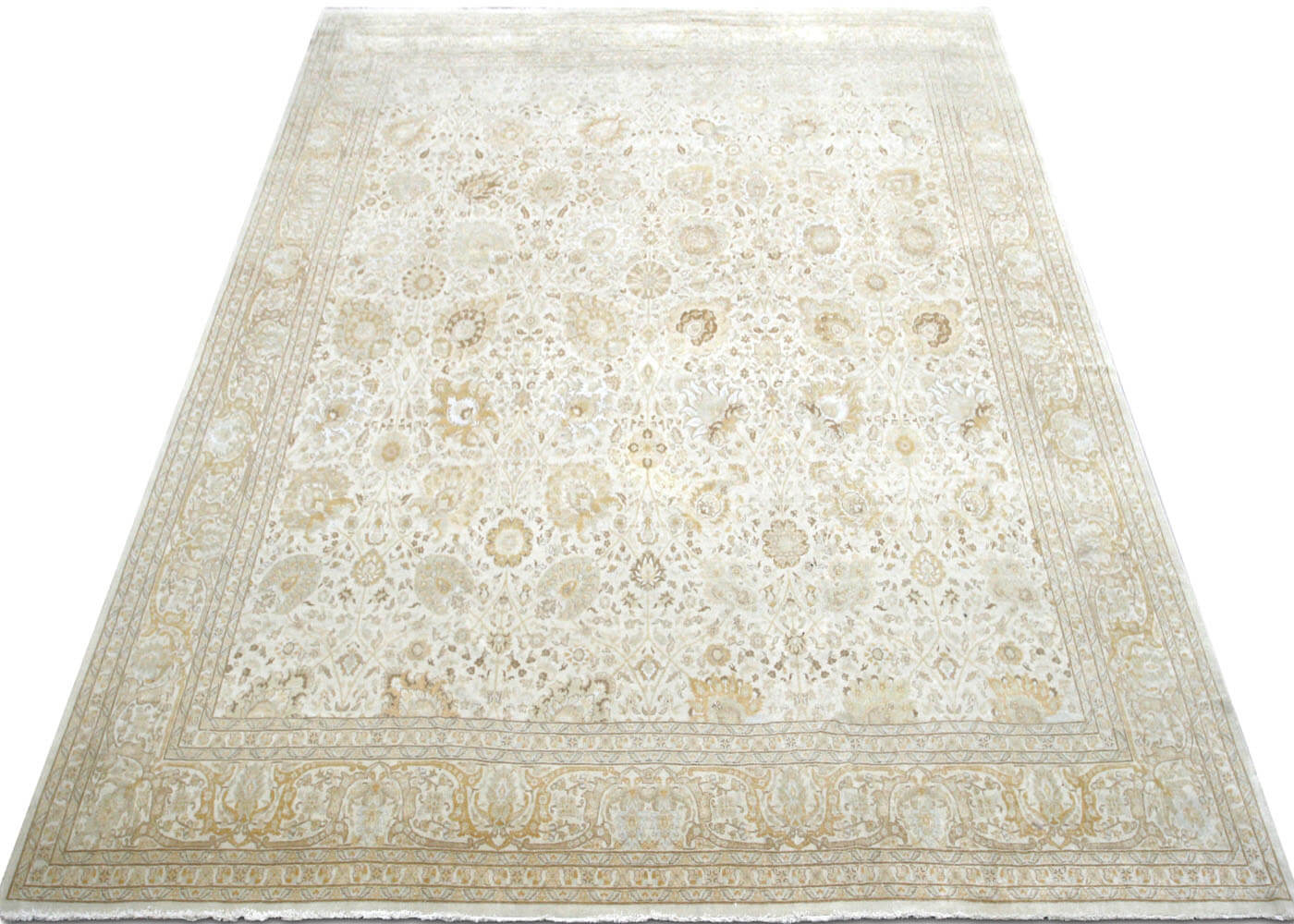 "Vintage Persian Tabriz Carpet - 11'9"" x 15'4"""
