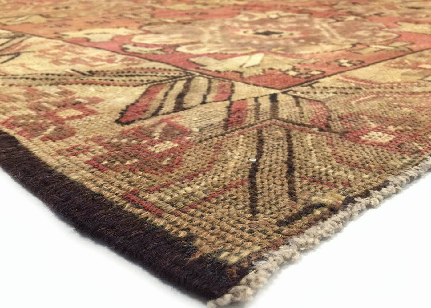 "Vintage Turkish Oushak Carpet - 5'6"" x 12'1"""