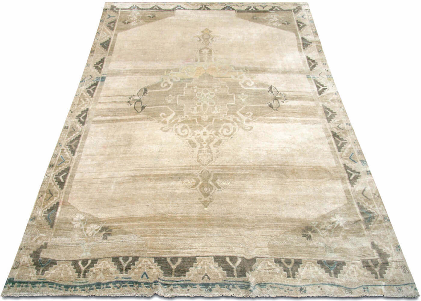 Vintage Turkish Oushak Carpet - 7' x 10'4""