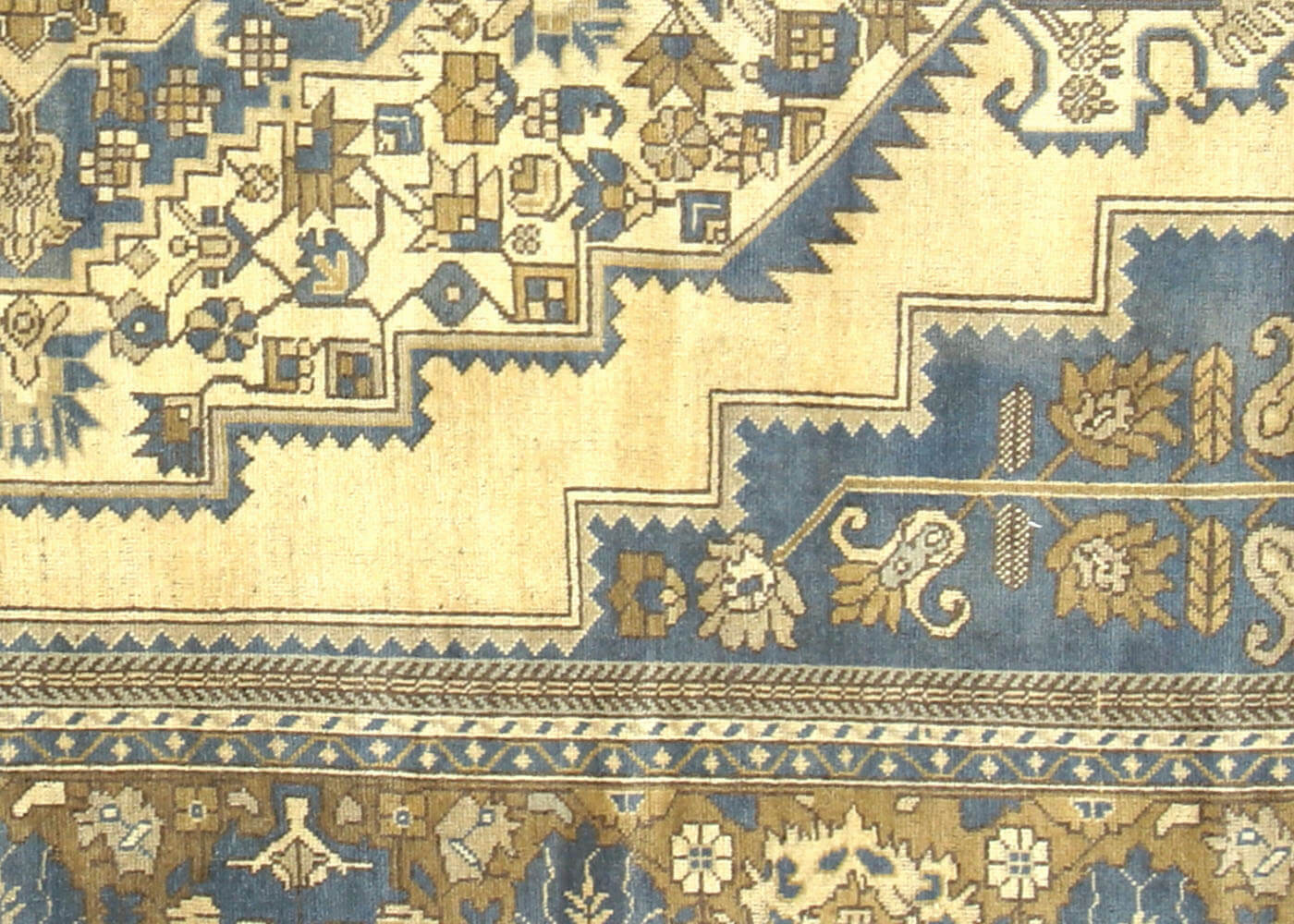 "Vintage Turkish Oushak Carpet - 7'4"" x 12'11"""