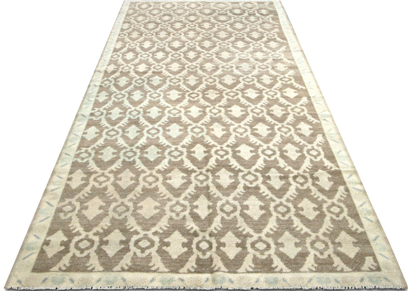 "Vintage Turkish Oushak Carpet - 4'6"" x 10'6"""
