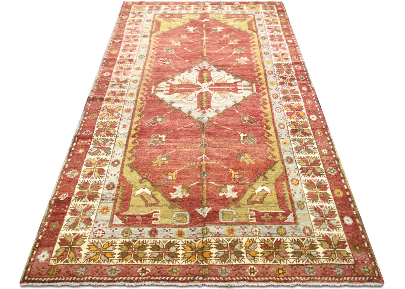 "Vintage Turkish Oushak Carpet - 5'3"" x 10'2"""