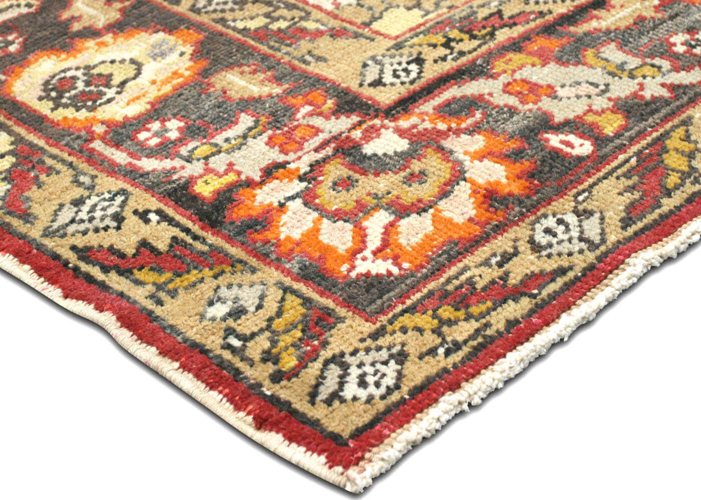 "Vintage Turkish Oushak Carpet - 7'1"" x 11'2"""