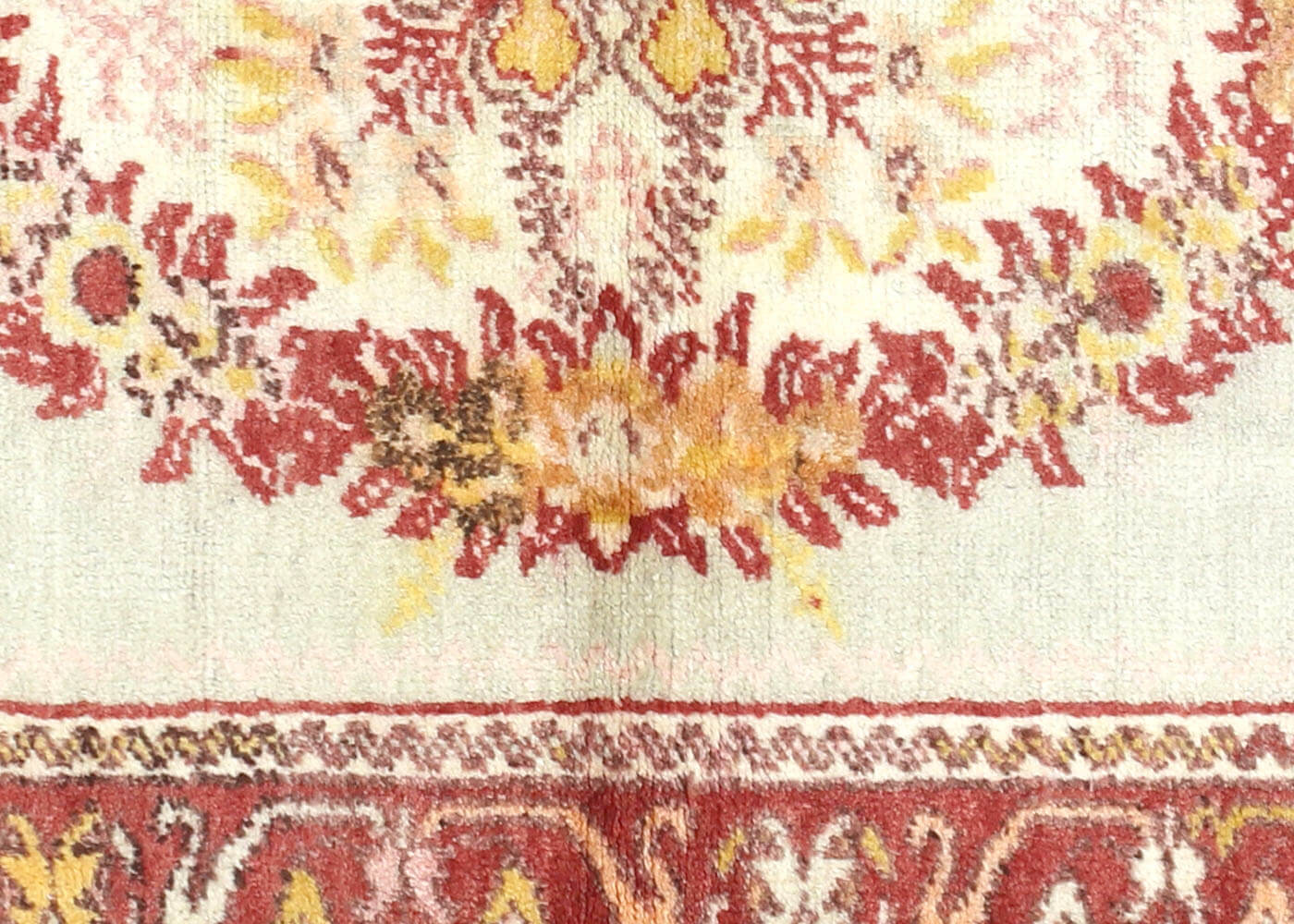 "Vintage Turkish Oushak Rug - 3'3"" x 5'10"""