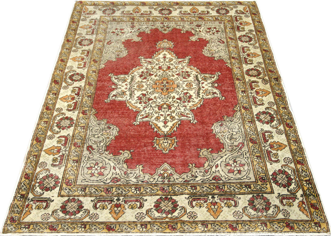 "Vintage Turkish Oushak Rug - 3'10"" x 5'5"""