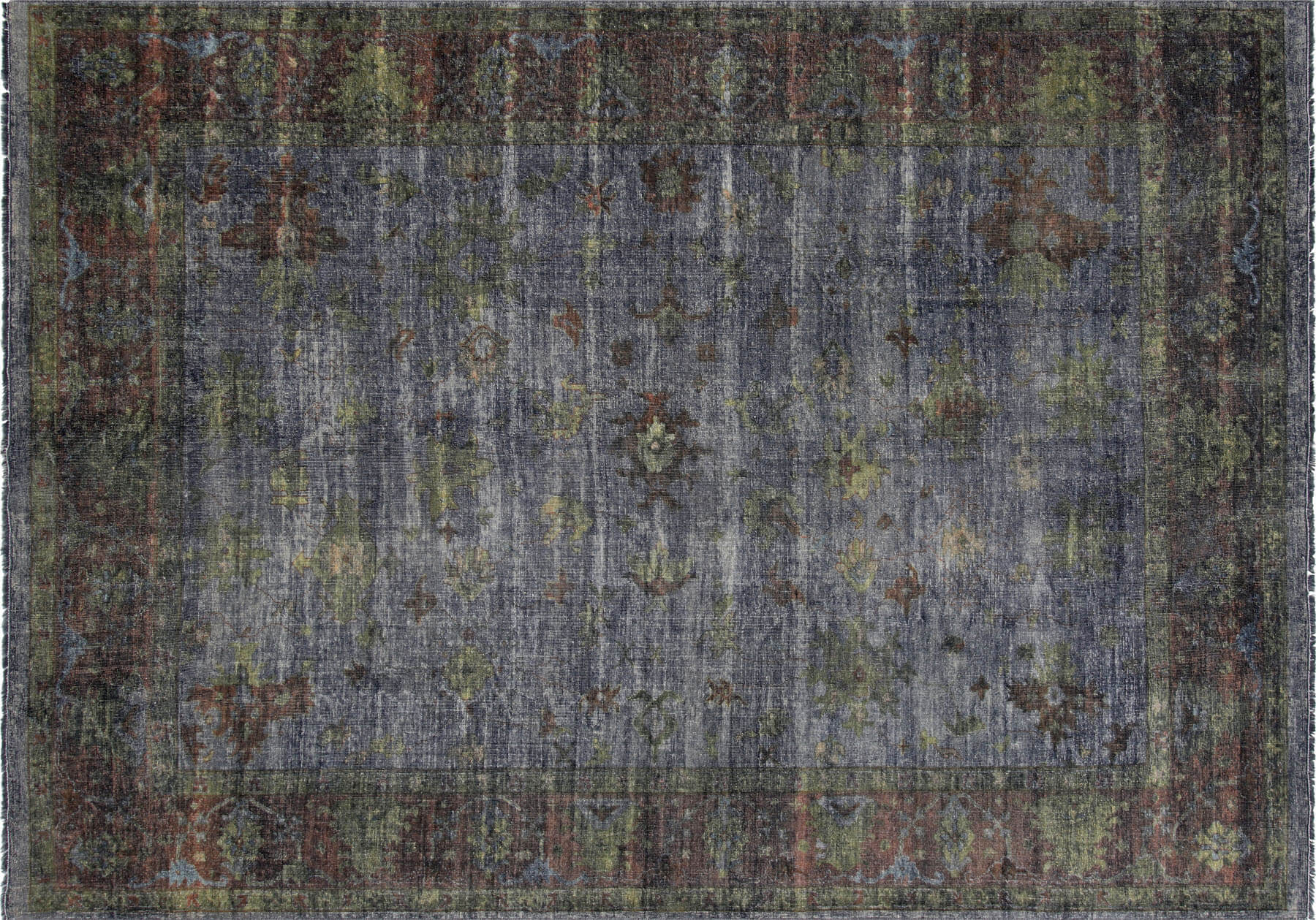 "Vintage Turkish OverDyed Carpet - 10'0"" x 13'11"""