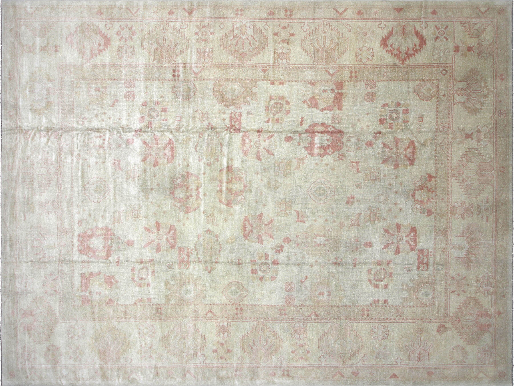 "Recently Woven Turkish Oushak Carpet - 12'8"" x 16'4"""