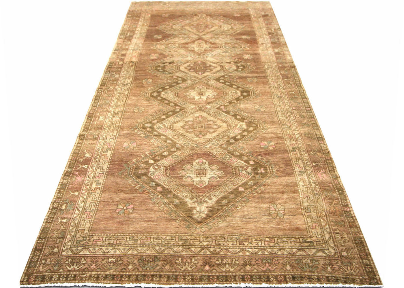 "Vintage Turkish Oushak Carpet - 5'7"" x 12'4"""