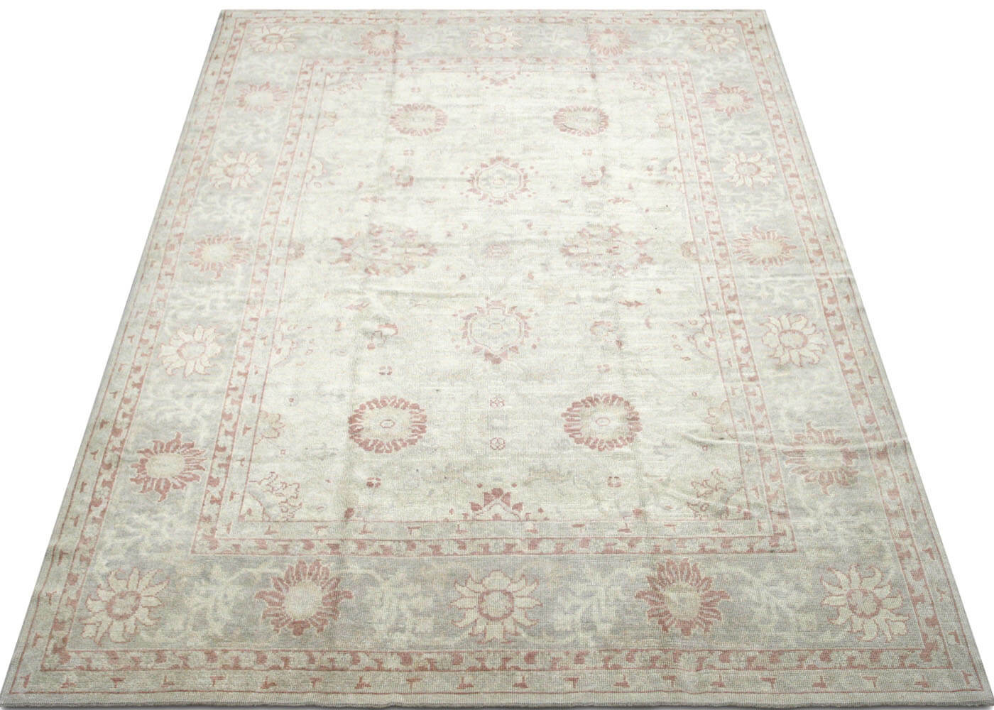 "Recently Woven Turkish Oushak Carpet - 9'2"" x 12'5"""