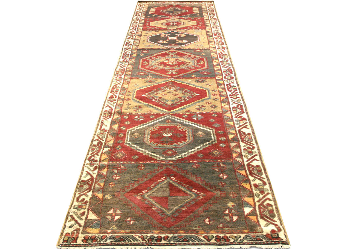 "Vintage Turkish Oushak Runner - 2'5"" x 12'8"""