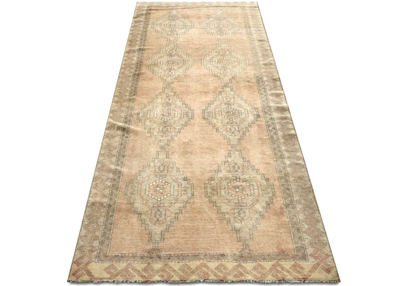 "Vintage Turkish Oushak Runner - 3'7"" x 9'8"""