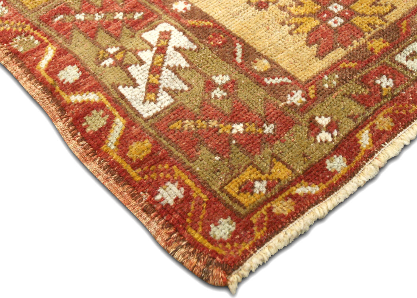 "Vintage Turkish Oushak Rug - 3'4"" x 5'1"""