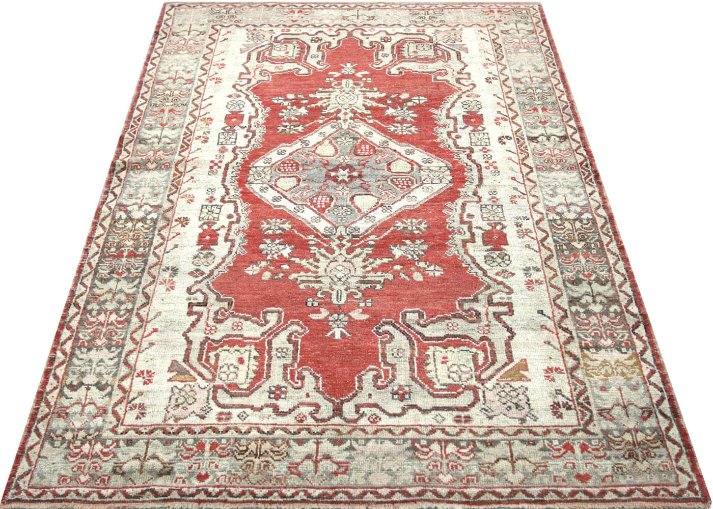 "Vintage Turkish Oushak Rug - 4'5"" x 7'0"""