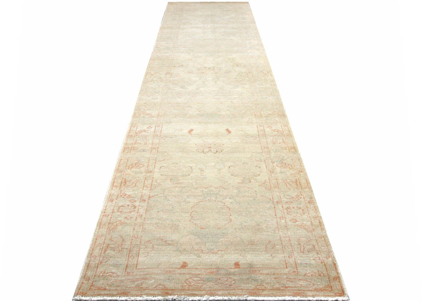"Recently Woven Egyptian Tabriz Runner - 2'6"" x 13'7"""
