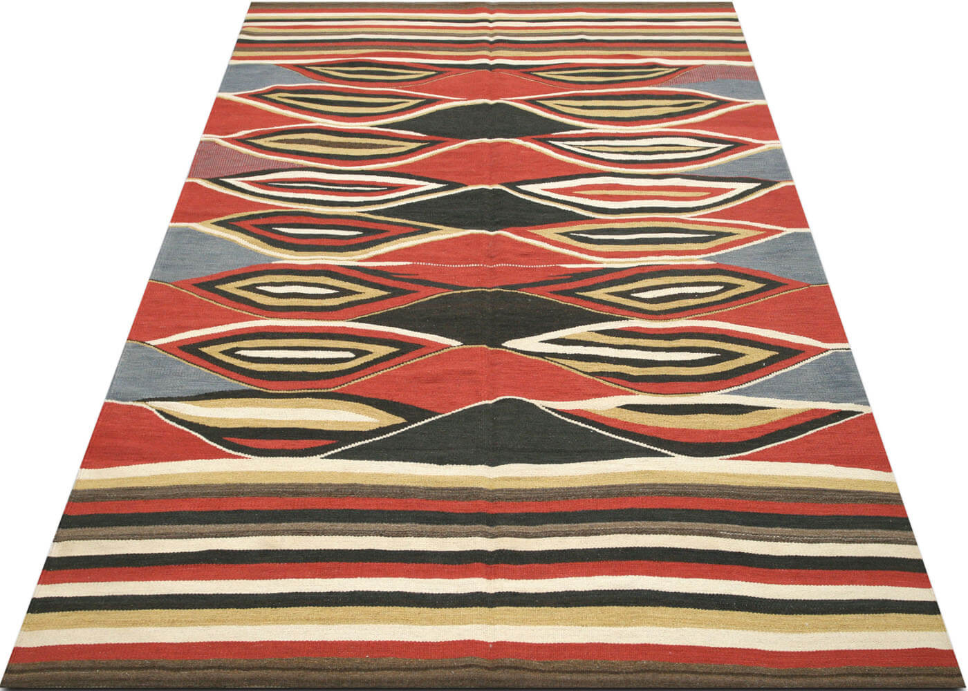 "Recently Woven Egyptian Kilim - 6'6"" x 9'10"""