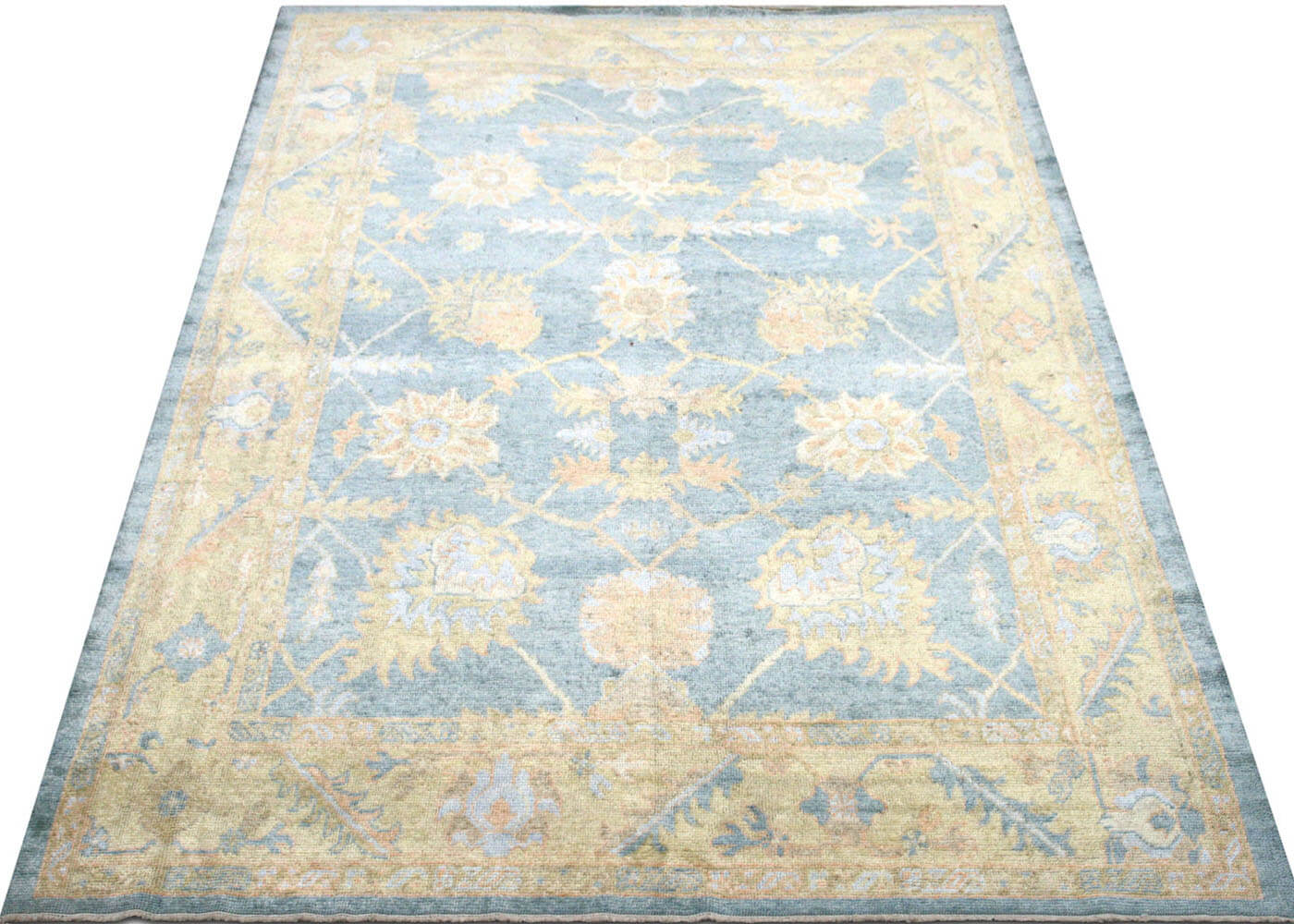 "Recently Woven Turkish Oushak Carpet - 7'8"" x 10'10"""