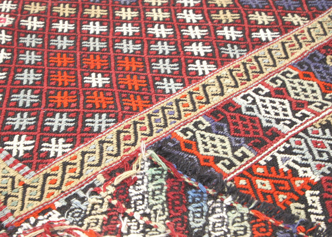 "Vintage Turkish Kilim - 7'4"" x 11'9"""