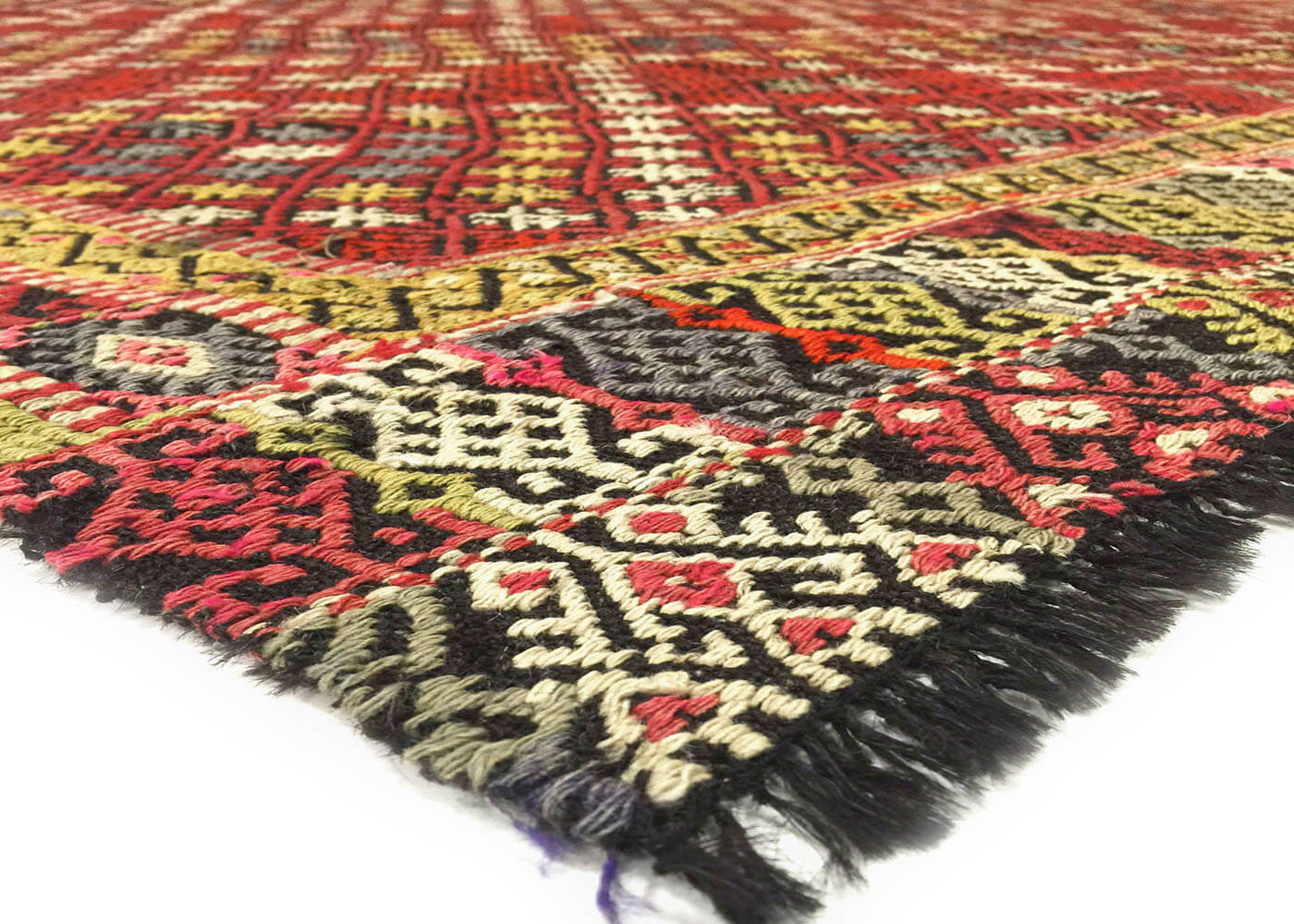 "Vintage Turkish Kilim - 7'11"" x 10'7"""