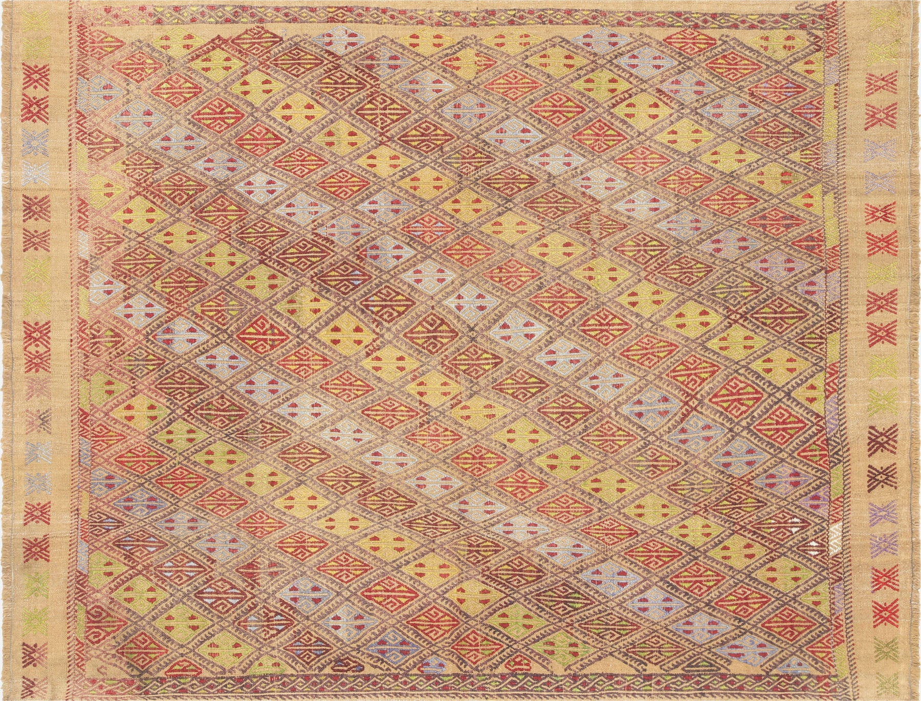 "Vintage Turkish Kilim - 4'2"" x 5'6"""