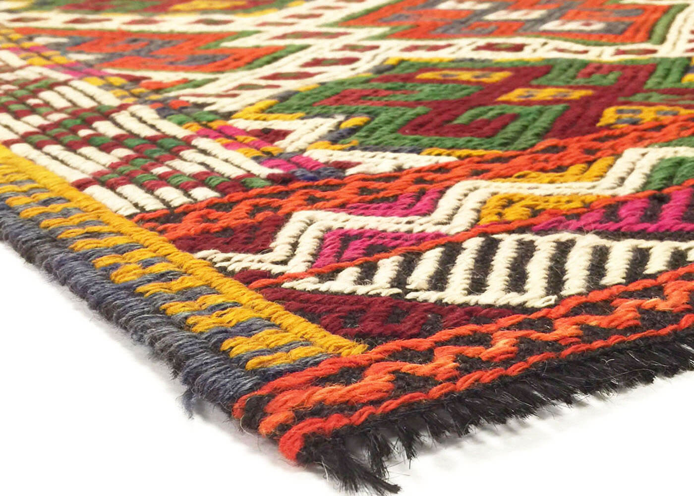 "Vintage Turkish Kilim - 2'10"" x 4'4"""