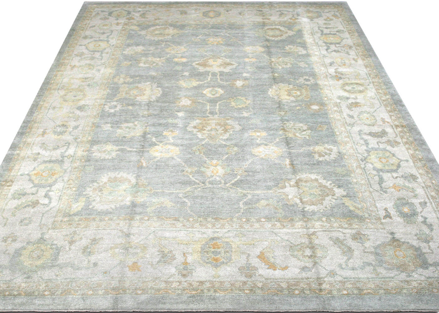 "Recently Woven Turkish Oushak Carpet - 12'2"" x 17'10"""