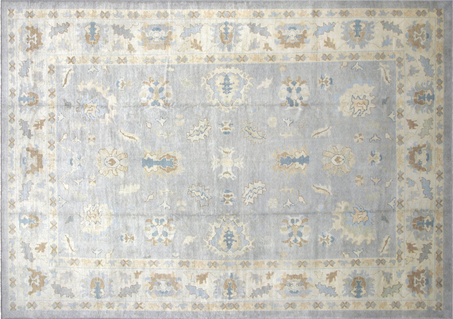 Recently Woven Turkish Oushak Carpet - 12' x 16'10""