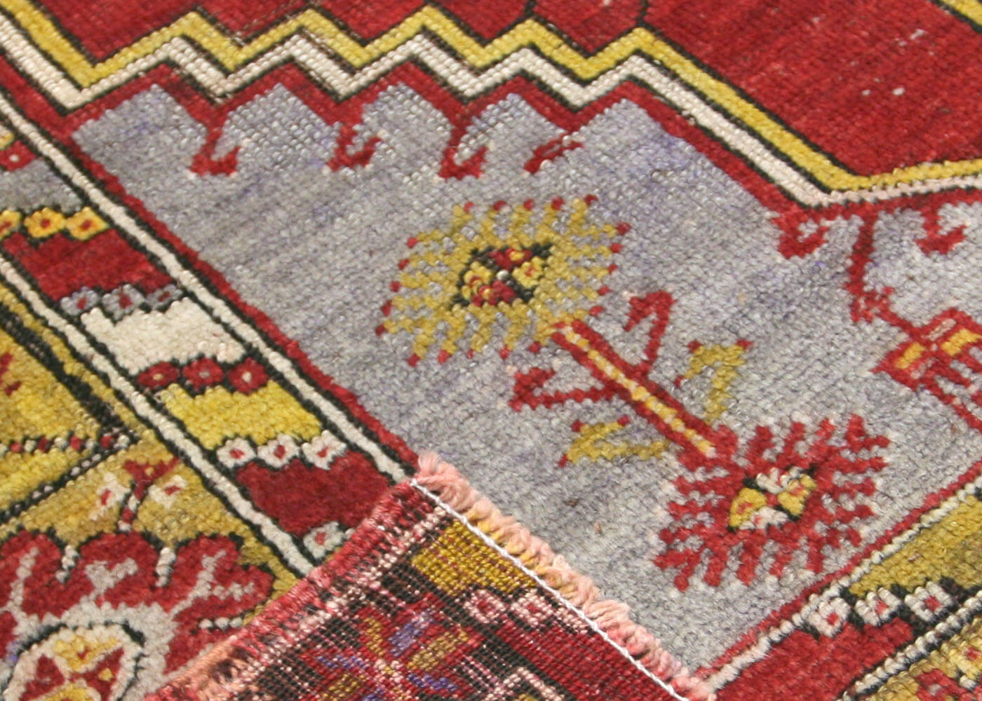 "Vintage Turkish Oushak Rug - 3'7"" x 5'3"""