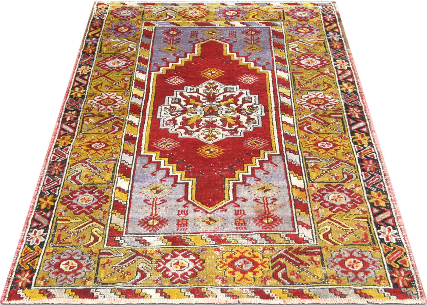 "Vintage Turkish Oushak Rug - 3'7"" x 5'1"""