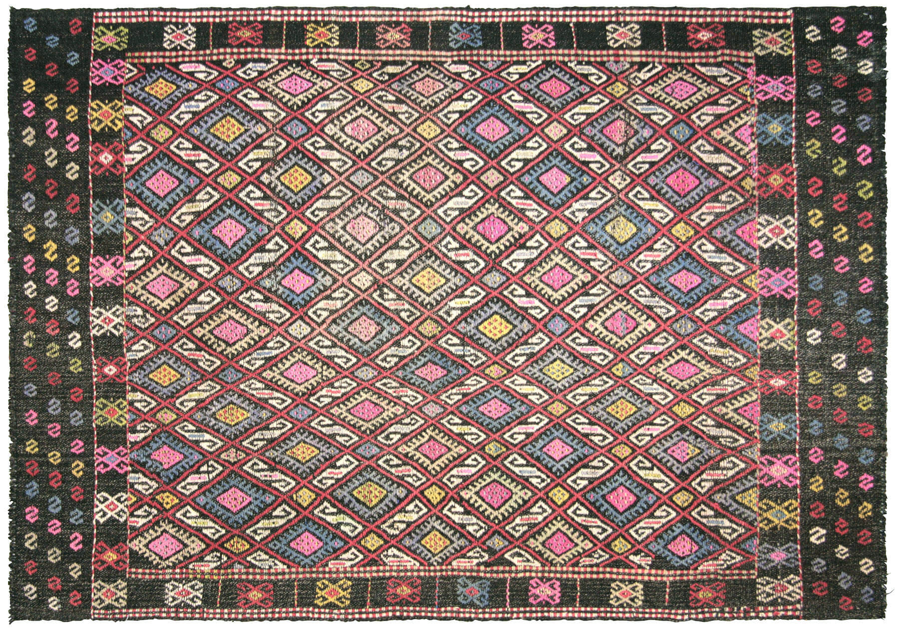 "Vintage Turkish Kilim - 4'3"" x 6'5"""
