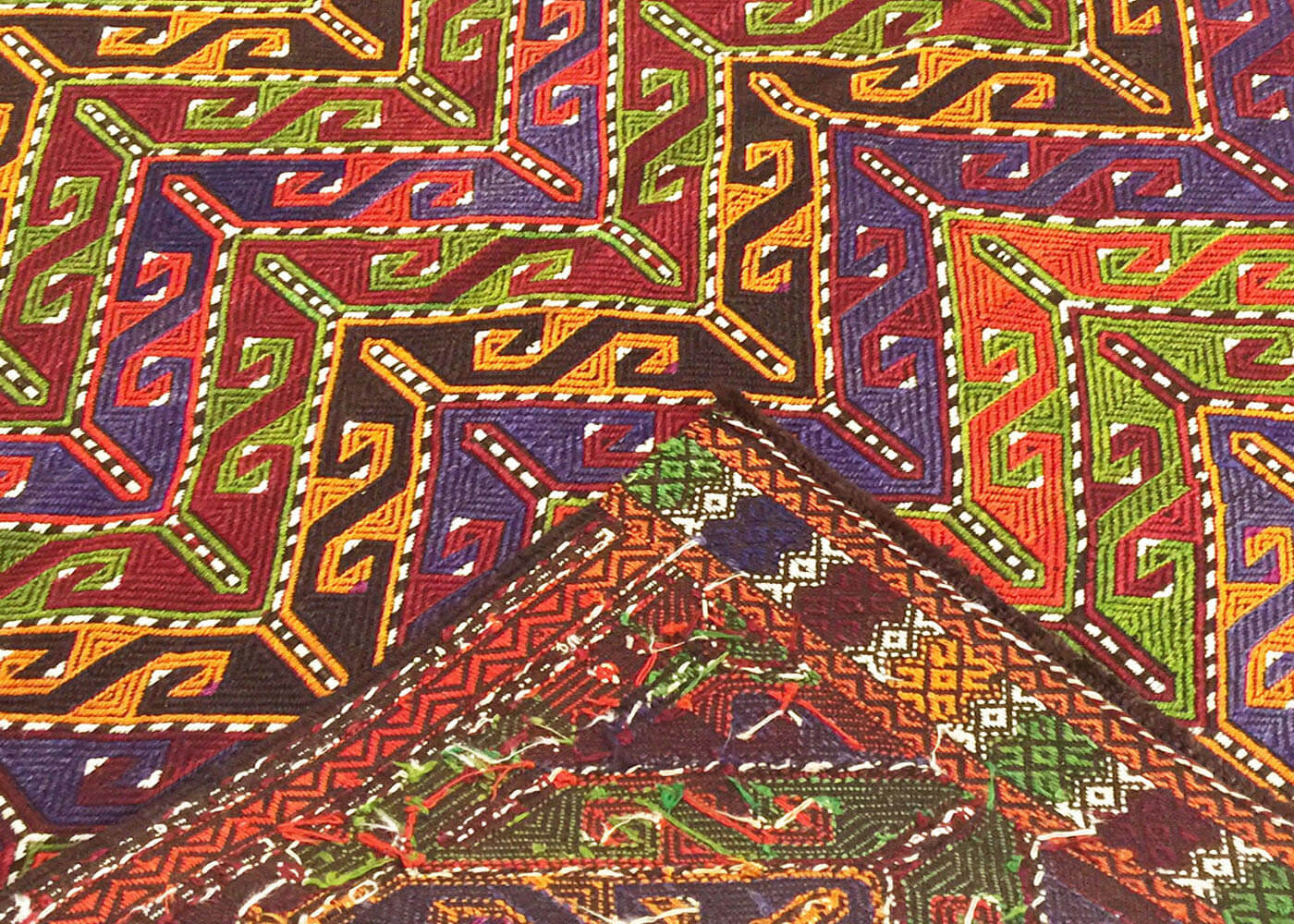 "Vintage Turkish Kilim - 3'9"" x 4'5"""