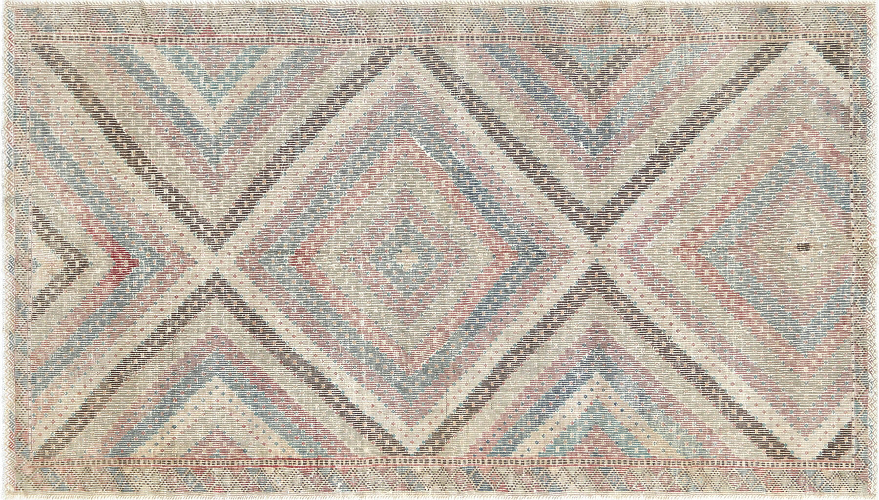 "Vintage Turkish Kilim - 6'5"" x 11'4"""