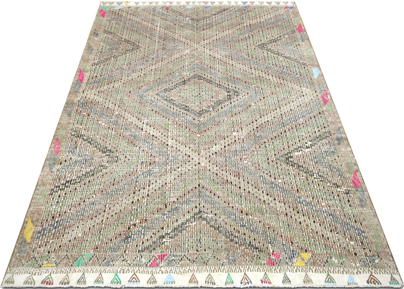 "Vintage Turkish Kilim - 6'4"" x 8'11"""