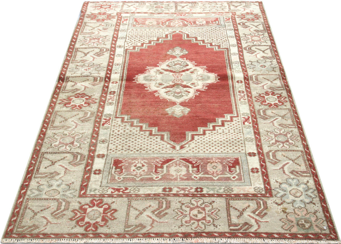 "Vintage Turkish Oushak Rug - 3'2"" x 5'1"""