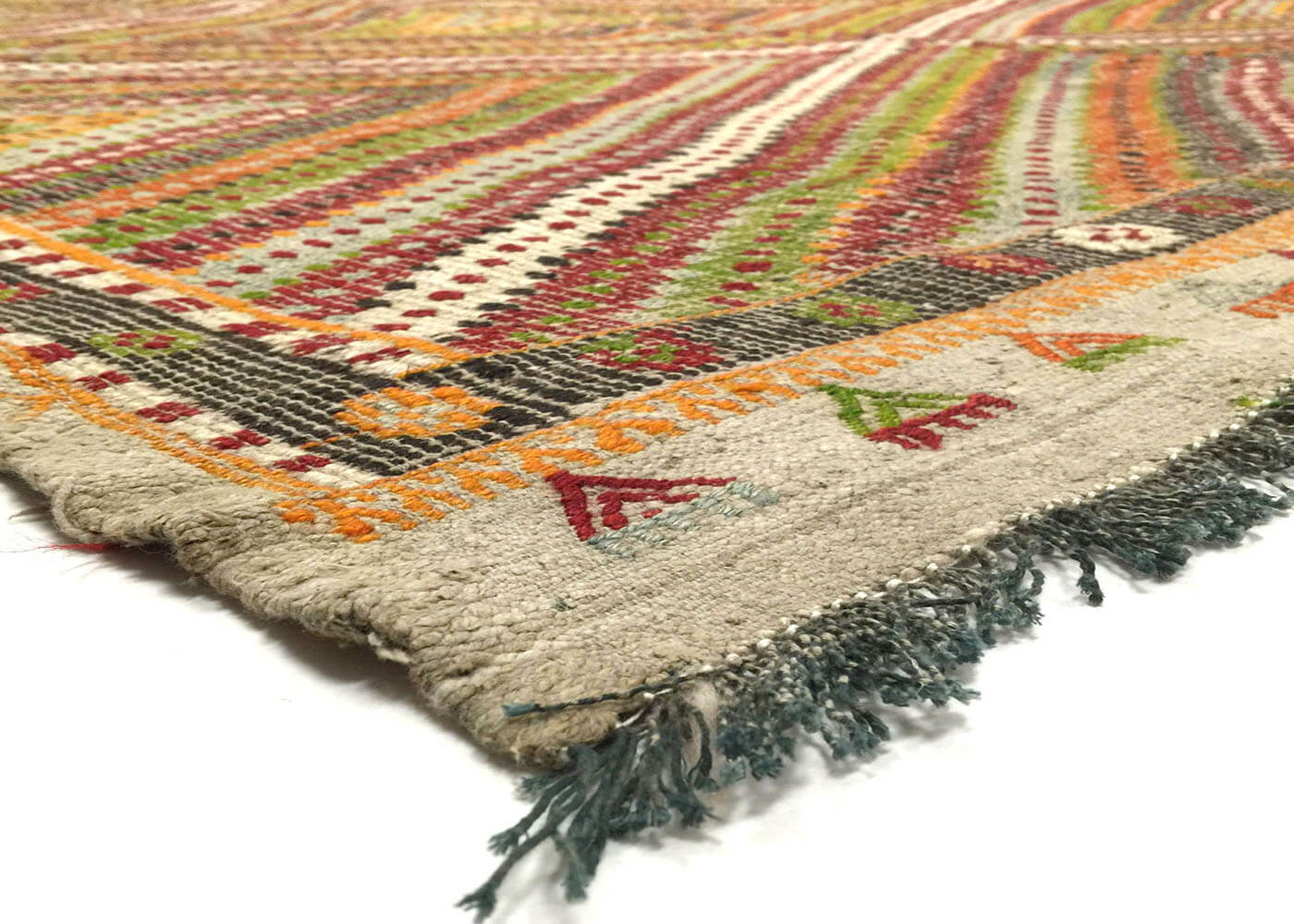 "Vintage Turkish Kilim - 6'11"" x 8'8"""