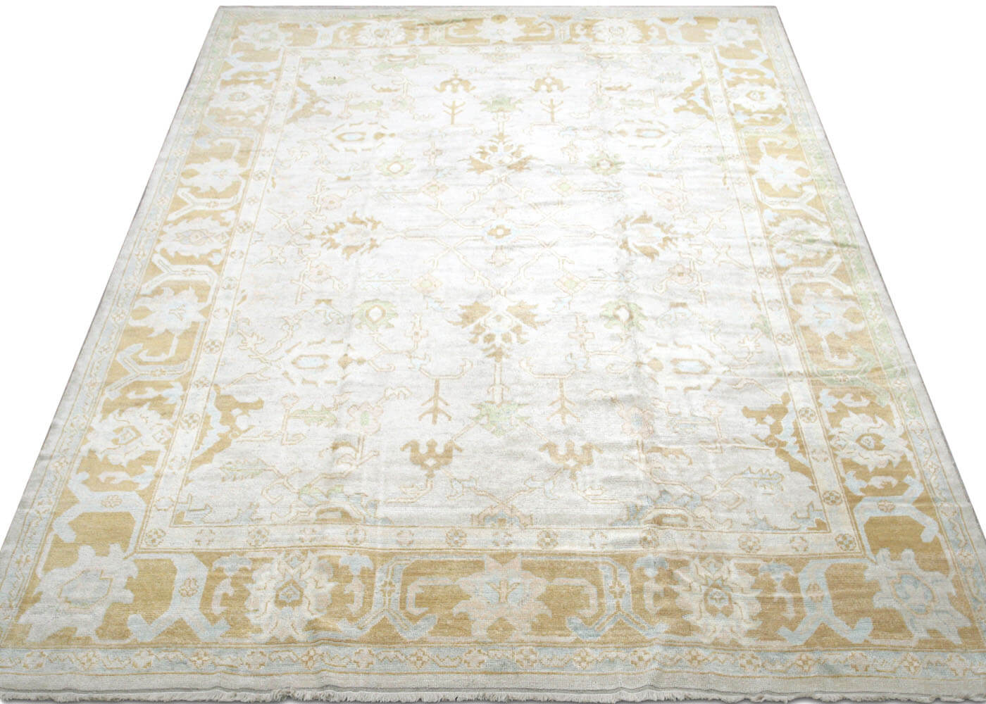 "Recently Woven Turkish Oushak Carpet - 11'7"" x 15'9"""