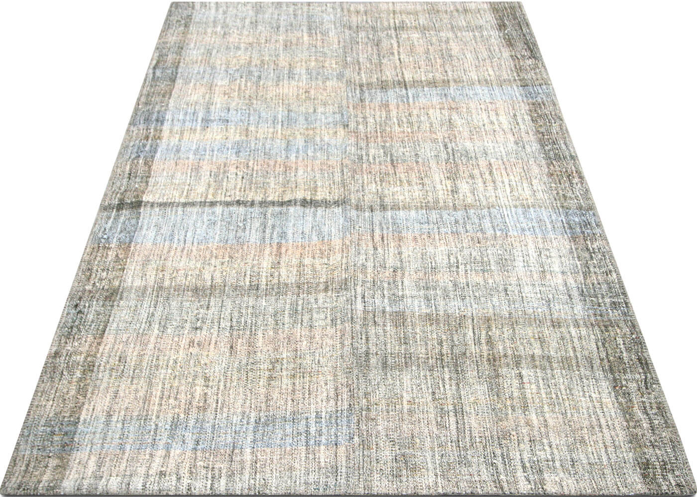 "Vintage Turkish Rag Kilim - 6'2"" x 9'7"""