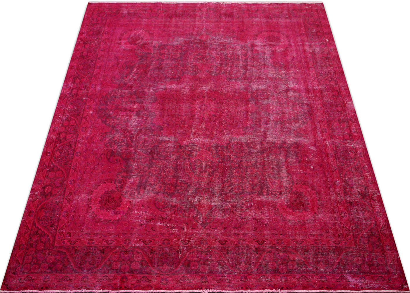 "Vintage Persian Kerman Overdyed Carpet - 9'7"" x 12'8"""
