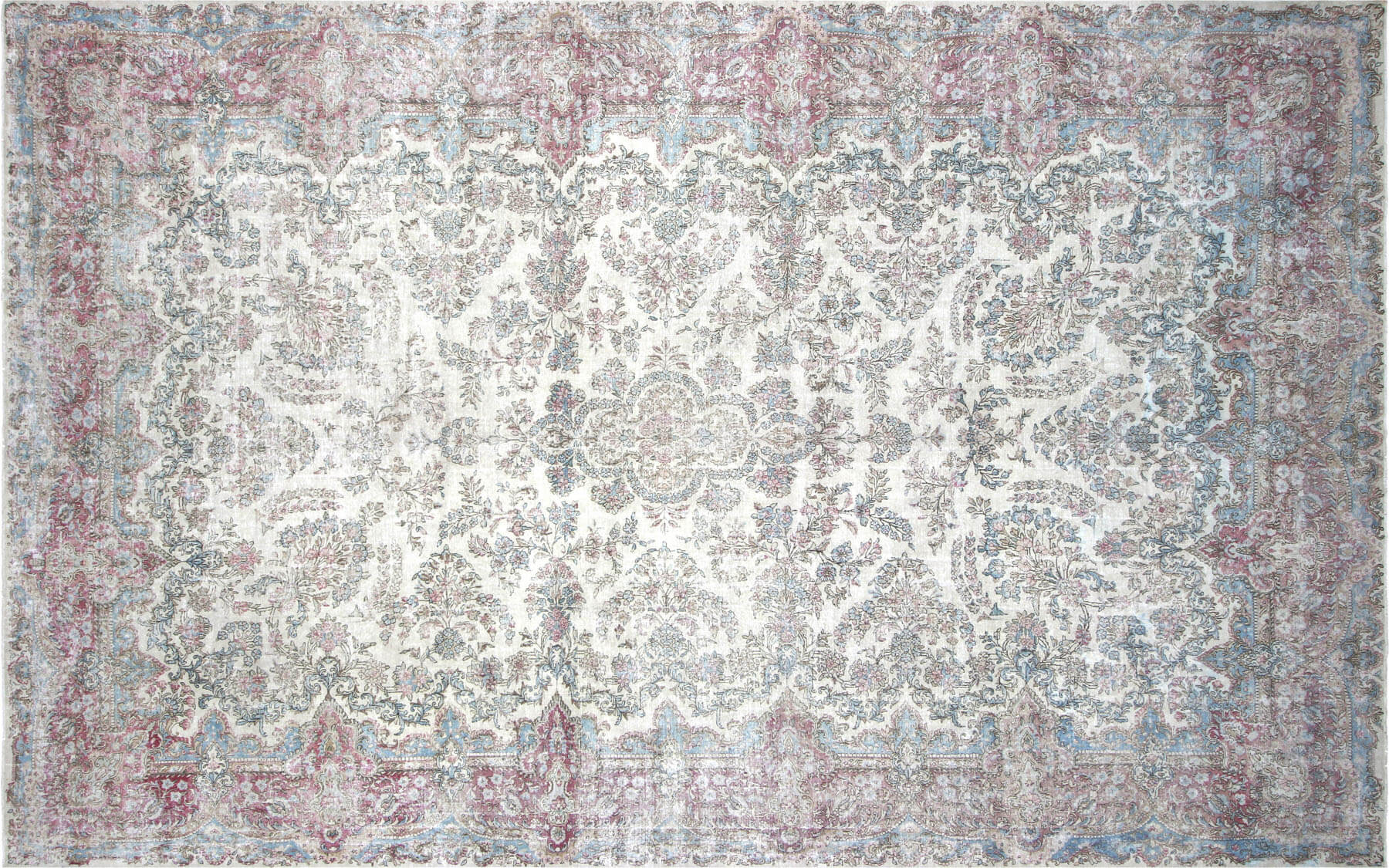 "Vintage Persian Kerman Carpet - 10'8"" x 17'0"""