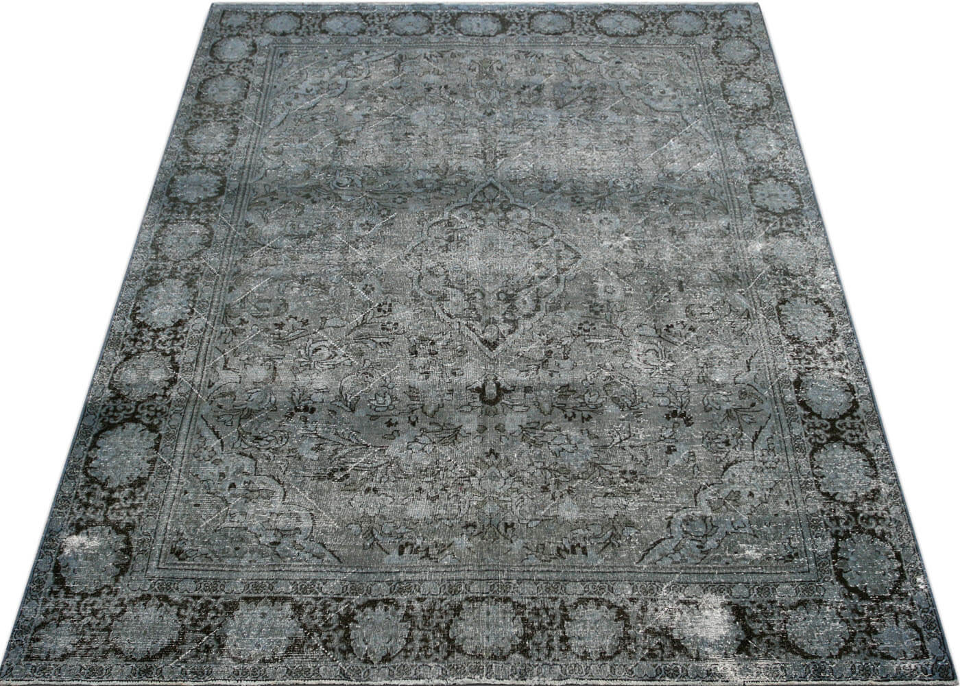 "Vintage Persian Mahal Overdyed Carpet - 8'10"" x 12'0"""