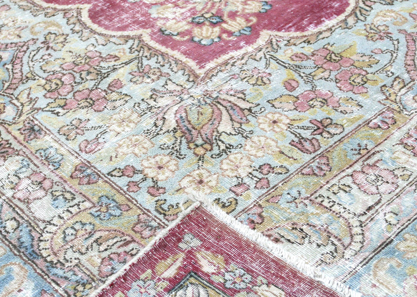"Vintage Persian Kerman Carpet - 10'9"" x 16'0"""
