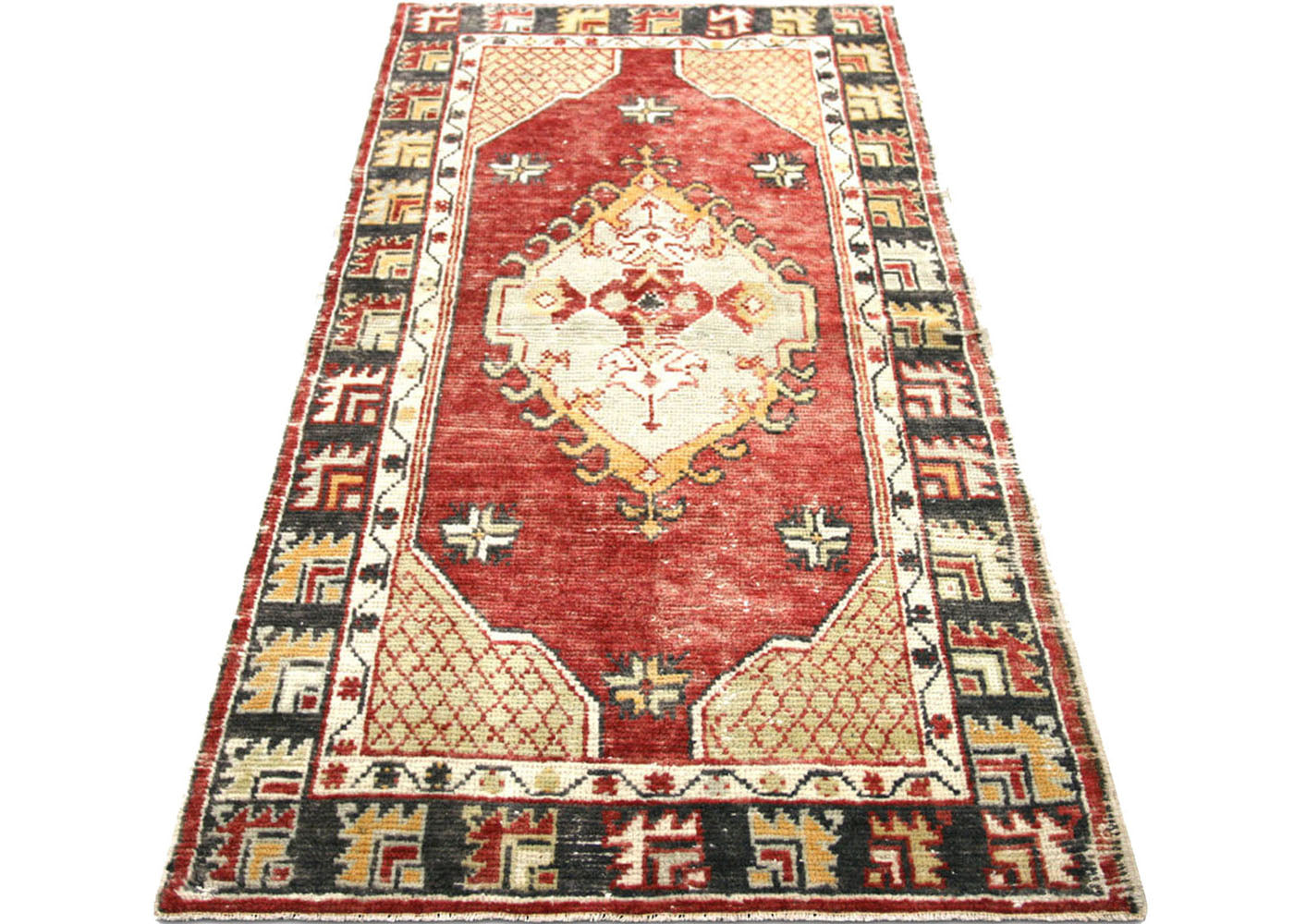 "Vintage Turkish Oushak Rug - 2'6"" x 4'11"""