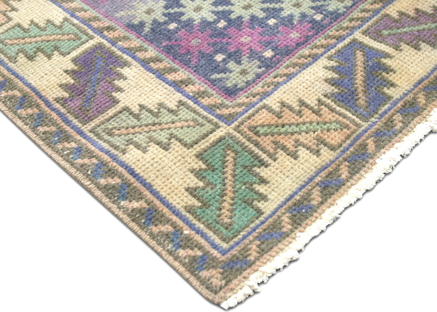 "Vintage Turkish Oushak Rug - 4'3"" x 8'10"""