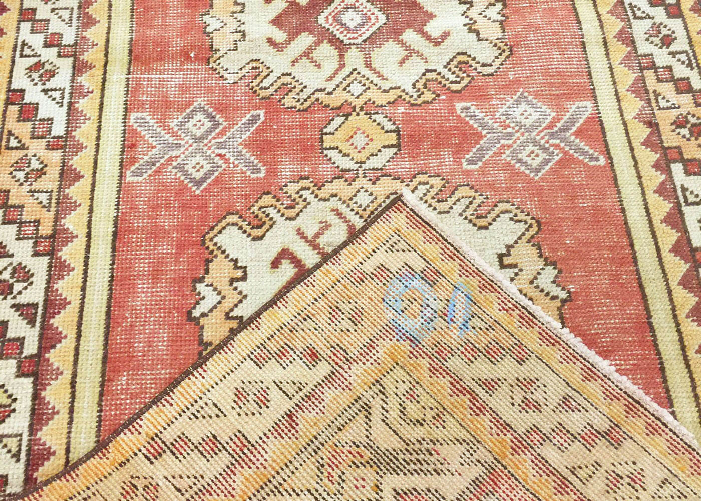 "Vintage Turkish Oushak Runner - 3'2"" x 9'4"""