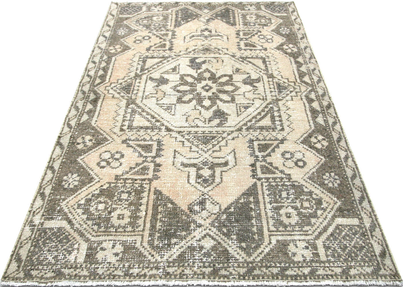 "Vintage Turkish Oushak Rug - 3'7"" x 5'8"""